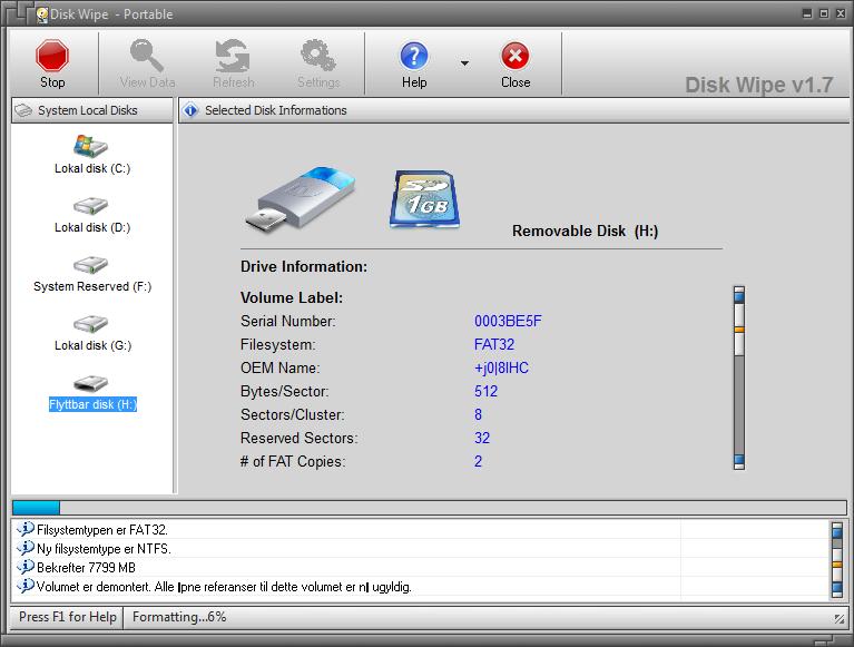 total slette en disk
